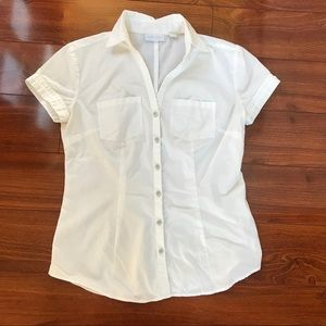 🔶 White NY&CO Button Up Blouse